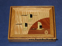 Small Frame (Birds 2) Japanese Trick Puzzle Box by Akio Kamei