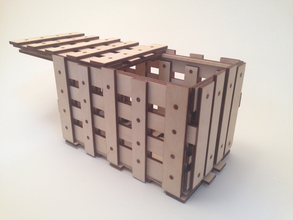The Crate Puzzle Box (Self Assembly Kit)