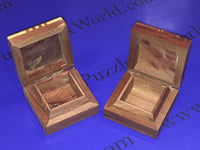 TWO Small Moroccan Thuya Burl Wood Decorative Boxes