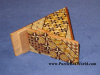 7 Step Yosegi Triangle Japanese Puzzle Box
