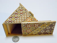 7 Step Triangle Yosegi Japanese Puzzle Box