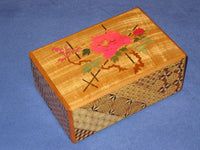 Vintage 6 Sun 9 Step Zougan Musical Hidden Drawer Japanese Puzzle Box