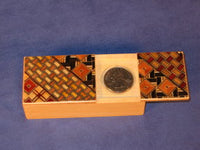 Yosegi Magic Coin Japanese Puzzle Box