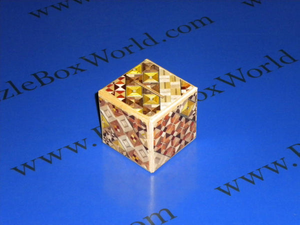 Dice 2 Step Yosegi Money Japanese Puzzle Box
