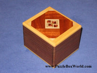 Japanese Trick Puzzle Box with a Top by Yoshiyuki Ninomiya