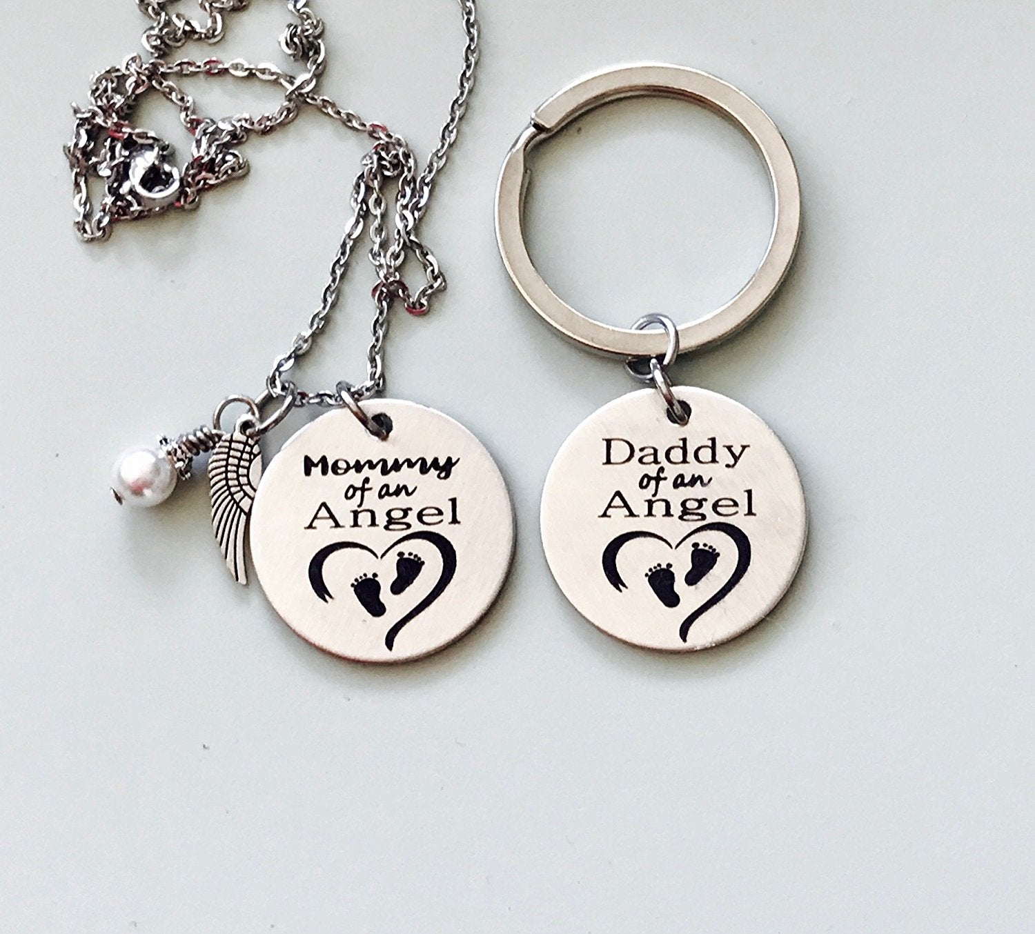 charm with memory jewelry necklace in steel stainless memorial photo personalized engraved products