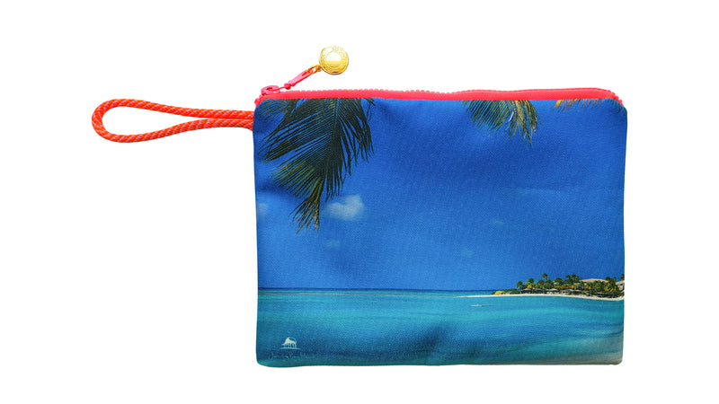 Jumby Bay Island waterproof beach pouch