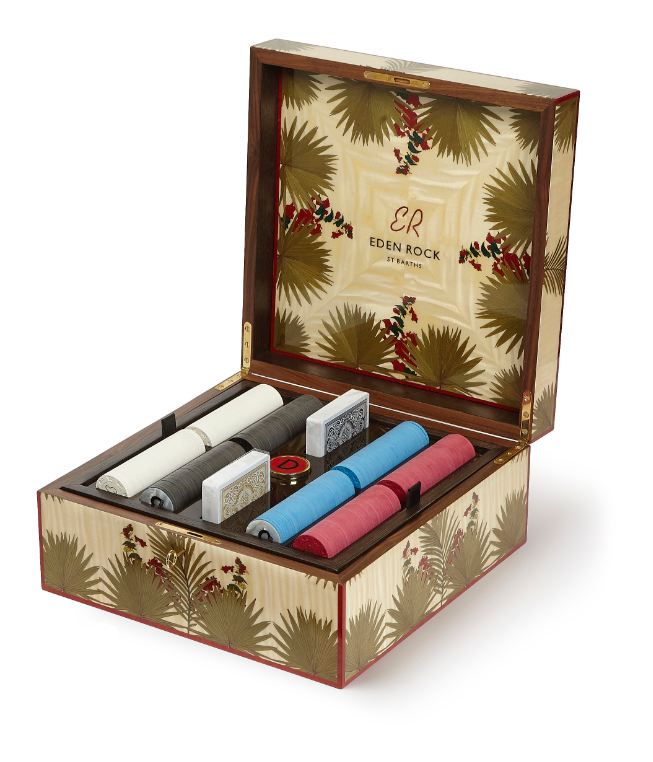 Eden Rock limited edition poker set - White