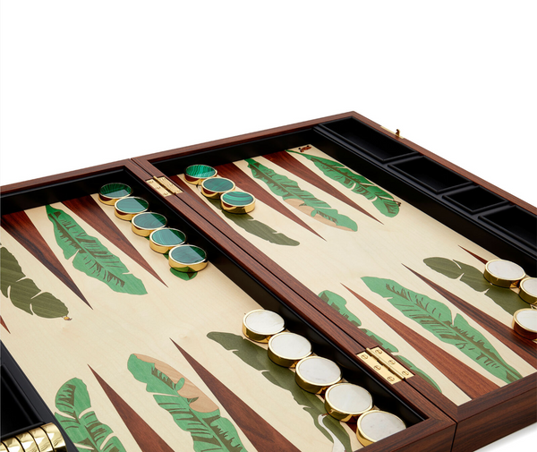 Jumby Bay Island backgammon board