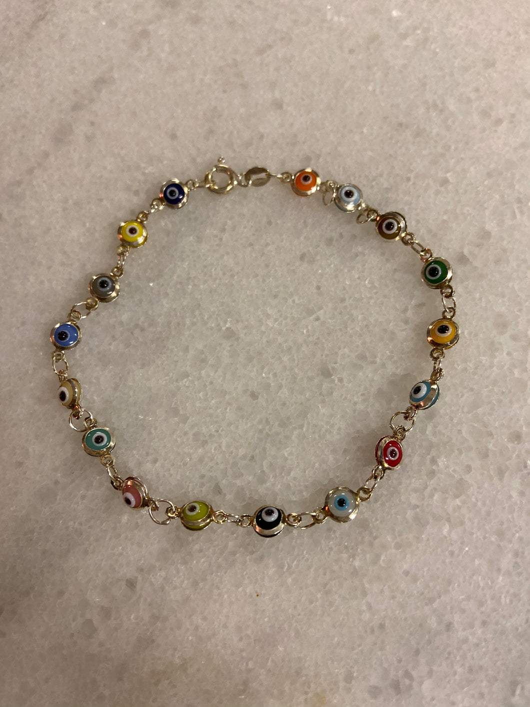 MINI EVIL EYE- RAINBOW