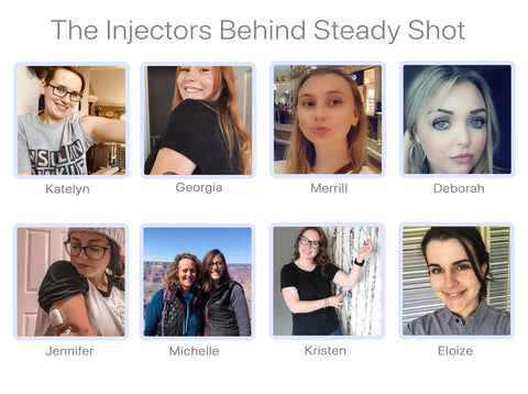 Injectors who use Steady Shot for diabetes injections.