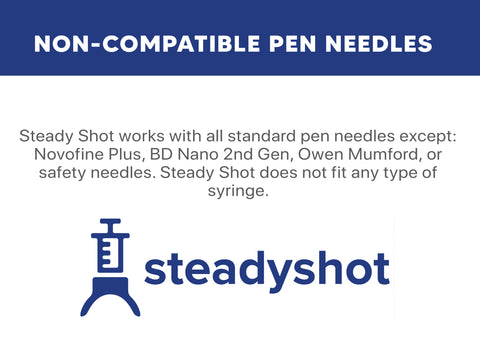 non compatible insulin pen needles steady shot