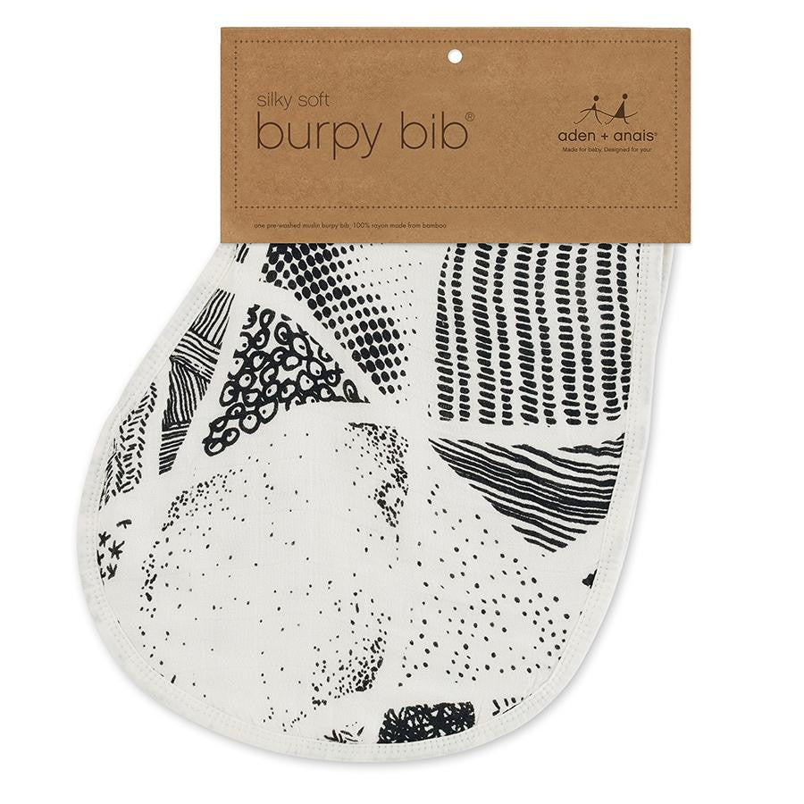 Midnight Silky Soft Burpy Bib