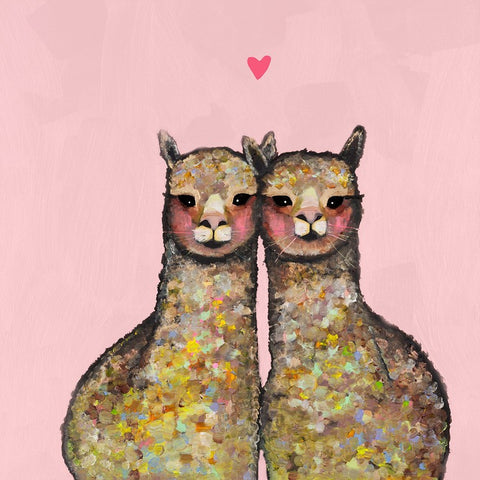 Canvas Wall Art- Alpaca Love- Pink