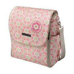 Boxy Backpack Glazed Coated Canvas- Blooming in Brixham