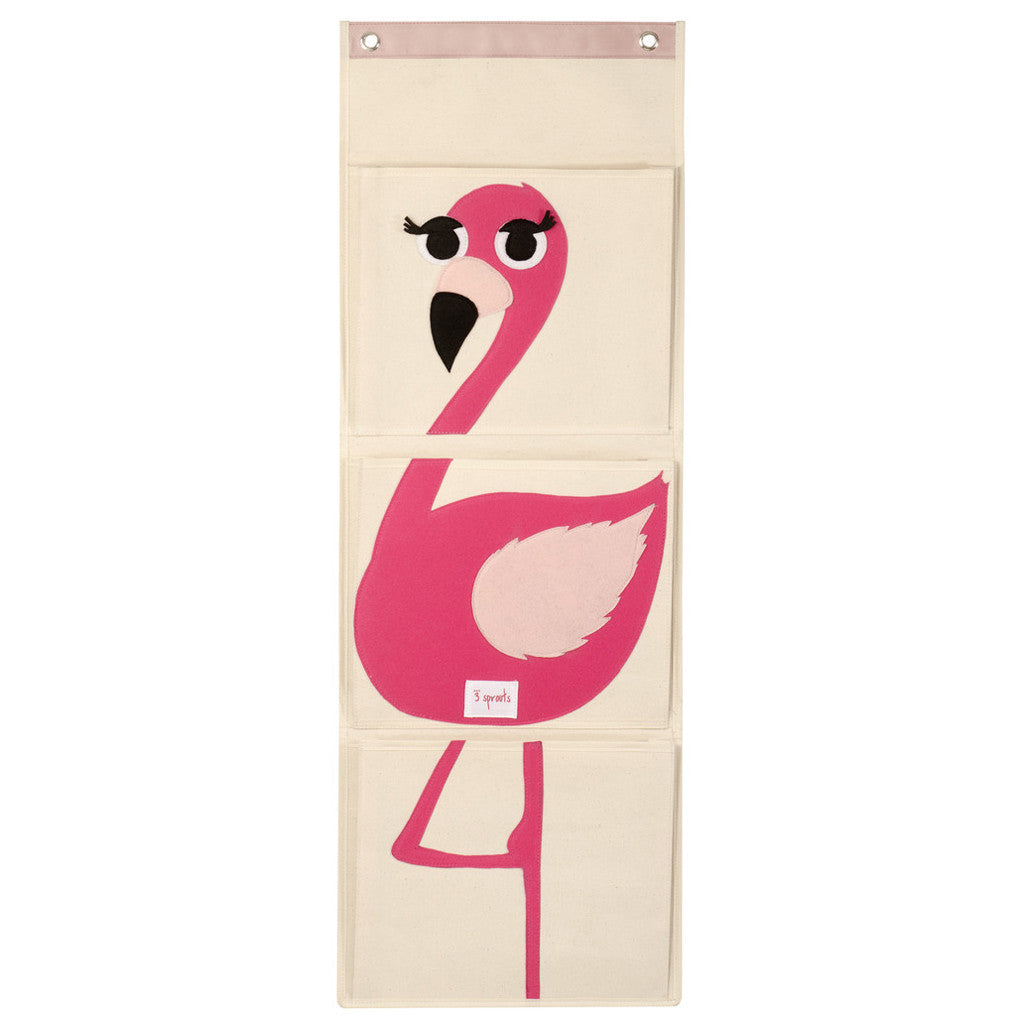 Hanging Wall Organizer- Flamingo