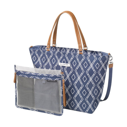 Altogether Tote Glazed Coated Canvas- Indigo