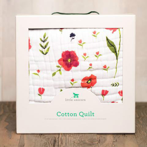 Cotton Muslin Quilt Summer Poppy