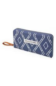 Wallet Glazed Coated Canvas- Indigo
