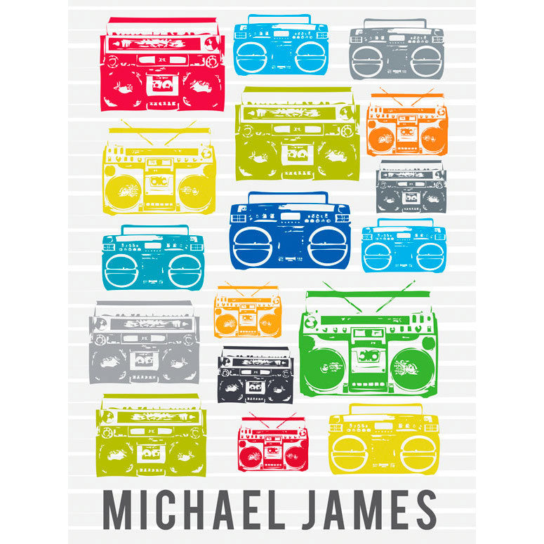Canvas Wall Art- Boomboxes