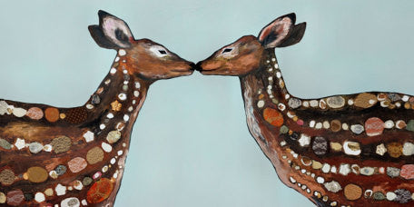 Canvas Wall Art- Deer Love
