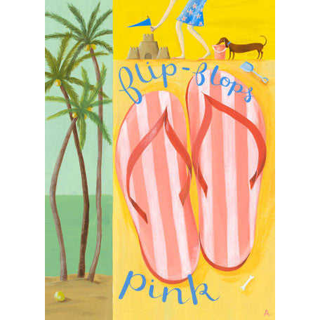 Canvas Wall Art- Flip Flops (Pink)
