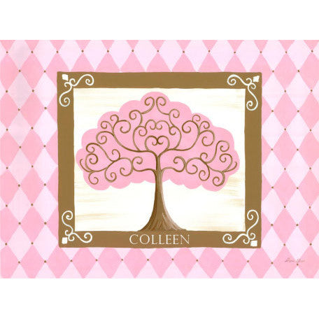 Canvas Wall Art- Grow Tree (Pink)