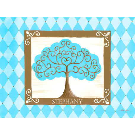 Canvas Wall Art- Grow Tree (Turquoise)