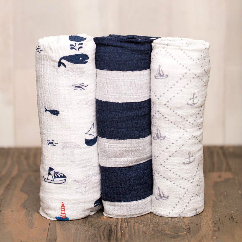 Cotton Swaddle Set- Anchors Aweigh