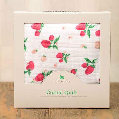 Cotton Muslin Quilt Strawberry
