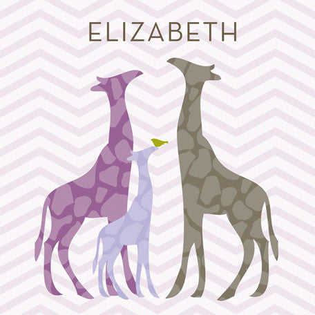 Modern Giraffes (Purple) Wall Art