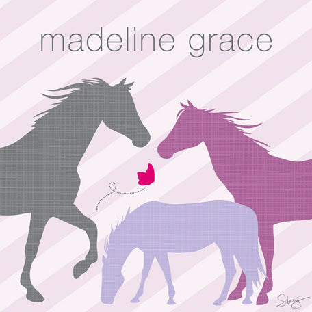 Modern Horses (Purple) Wall Art