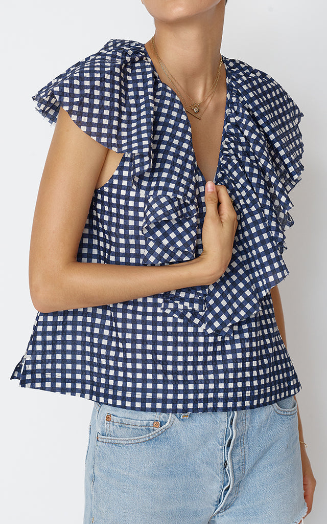 Gaeta Top -  New Puckered Patterns