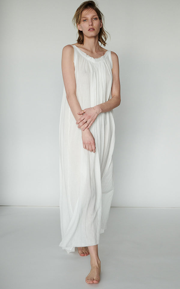 Gather Maxi Dress in Turkish Gauze