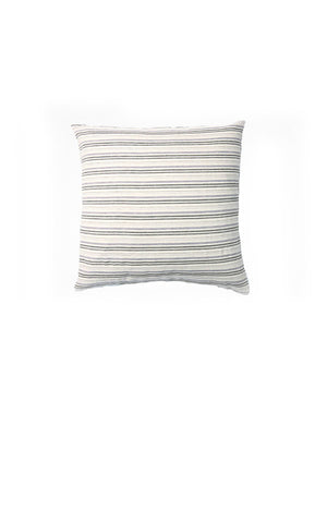 Striped Throw Pillow In Heather & Charcoal