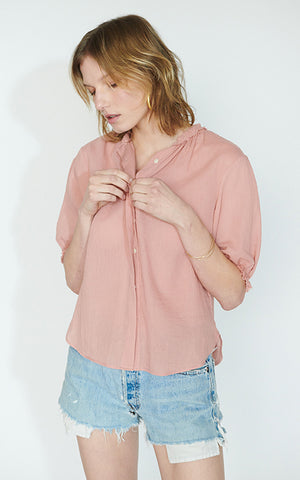 Pico Puff Sleeve Blouse
