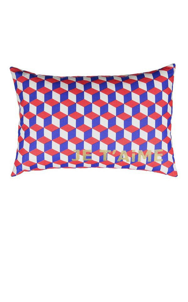 Je T'aime Geometric Cushion