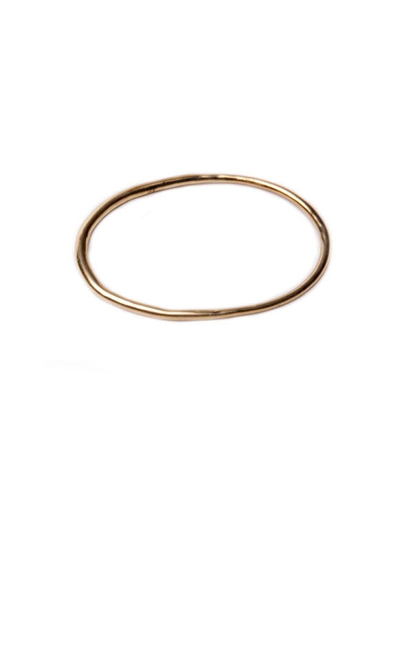 Weighted Bangle in Gold