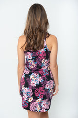 """The Perfect Fit"" Jayne Chemise V-Neck - Midnight Tropics"