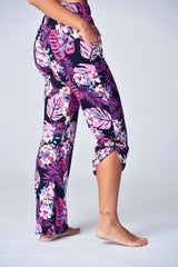 """The Jayne Lounger"" Multi-Way Pant - Midnight Tropics"