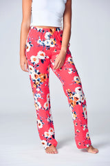 """The Jayne Lounger"" Multi-Way Pant- Coral Sunset"