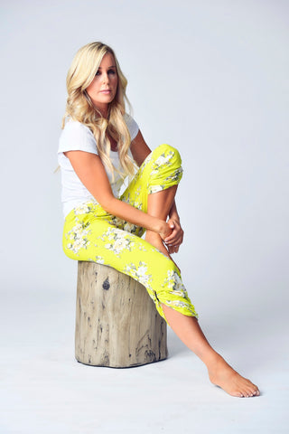 """The Jayne Lounger"" Multi-Way Pant - Sol Floral"