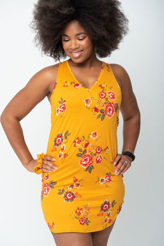 """The Perfect Fit"" Jayne Chemise V-Neck - Marigold"