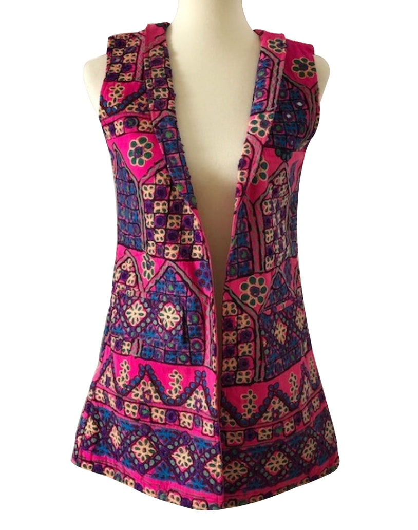 Vest with Antique Style Embroidery