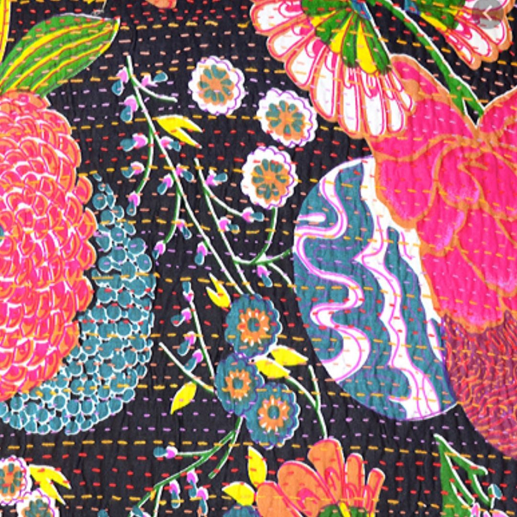 "Hand Stitched Table Cloth ""Tropical"""