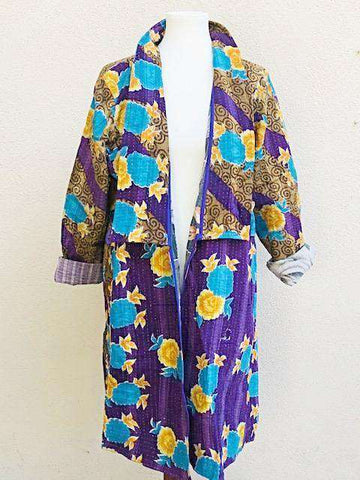 Kantha Boho Duster Coat