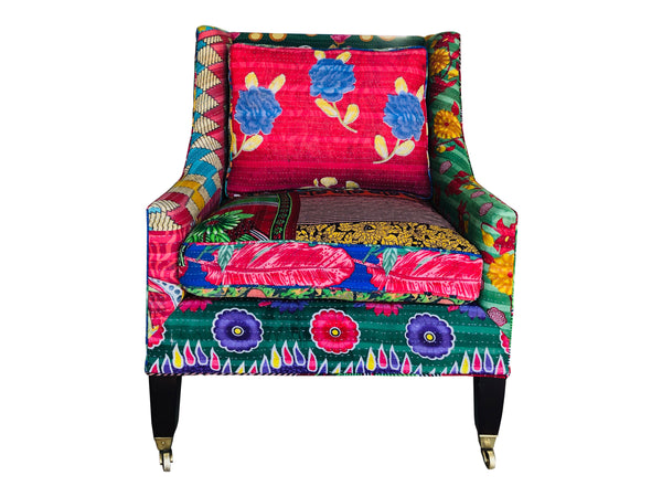 Vintage Kantha Statement Chair