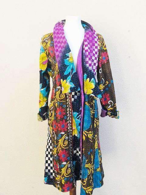 Apparel - Kantha Boho Duster Coat
