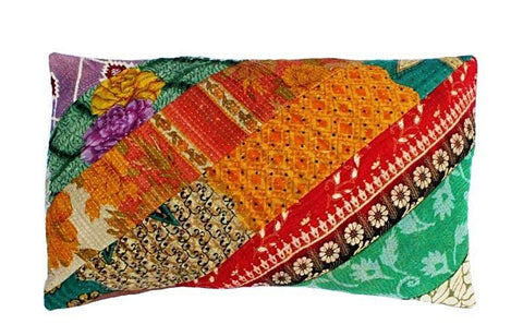 Vintage Kantha Rectangle Pillows
