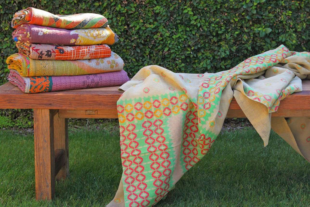 Kantha Throw  - Neutral Multi Variation